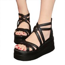 Women's shoes summer cross dewy toe women sandals sponge bas