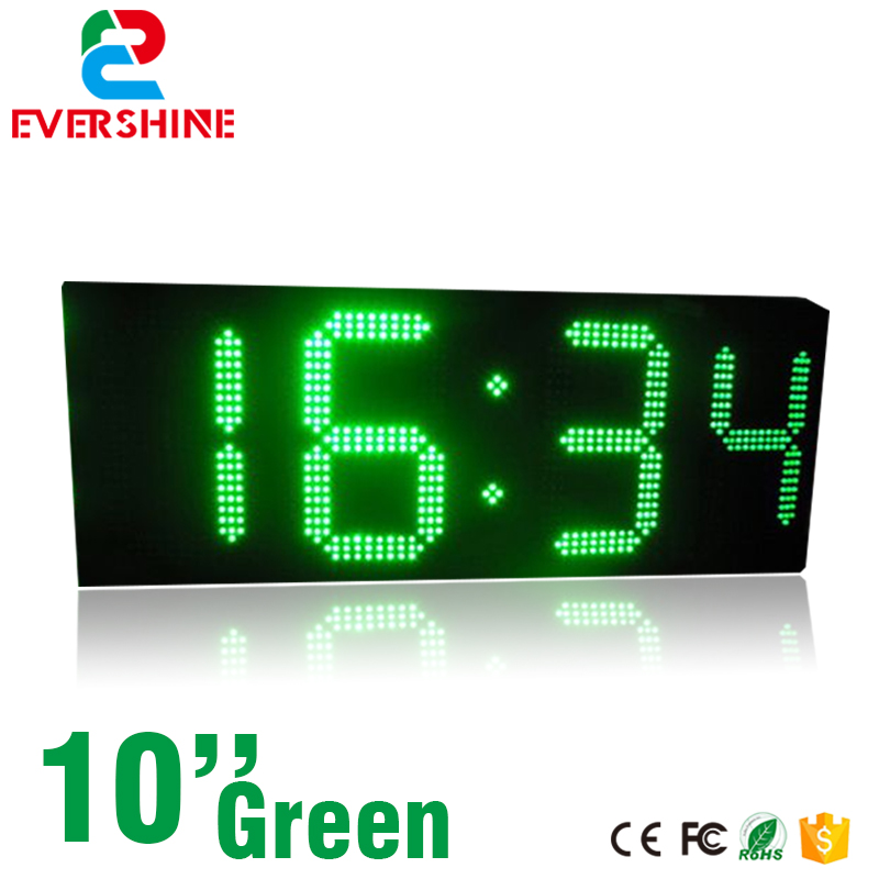 10inch 4 Digits 88:88 Green color Outdoor LED time temperature Electrics display sign board digital sign hd high quality led gas price display sign outdoor led billboard green color 12 outdoor led display screen