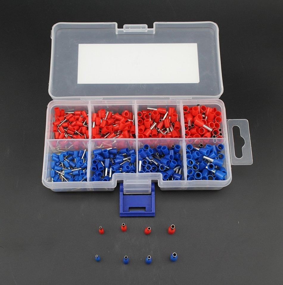Free shipping 400pcs Copper Crimp Connector Insulated Cord Pin End Terminal Ferrules kit set Wire terminals connector 190pcs lot 6 different crimp terminal ring connector kit set wire copper crimp connector insulated cord pin end terminal