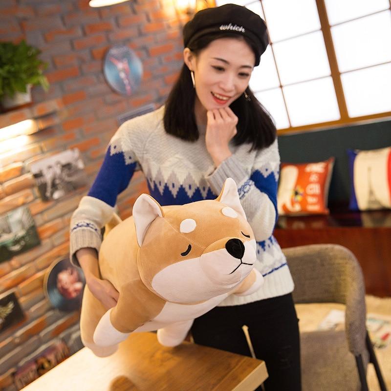 Algodón mentir felpa peluche perro juguetes grandes Shiba Inu Dog - Peluches y felpa - foto 5
