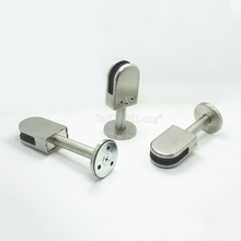 DHL Shipping 10PCS Floor Deck Mount Solid Stainless Steel Glass Clamp Clip Brackets Holder for 6-8mm/10-12mm JF1767