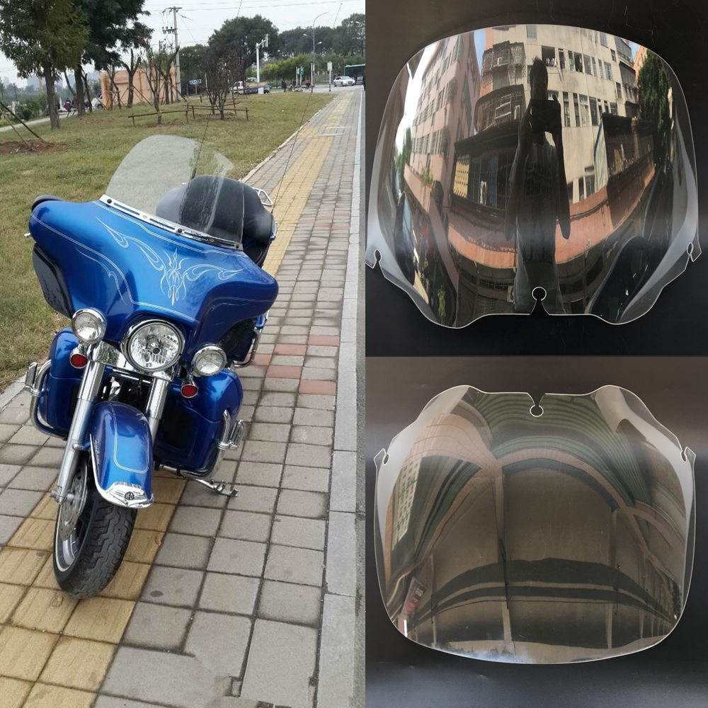 Motorcycle 13 Transparent Windscreen Windscherm Windshield For Harley Touring Street Glide Electra Ultra Classic 1996 2013