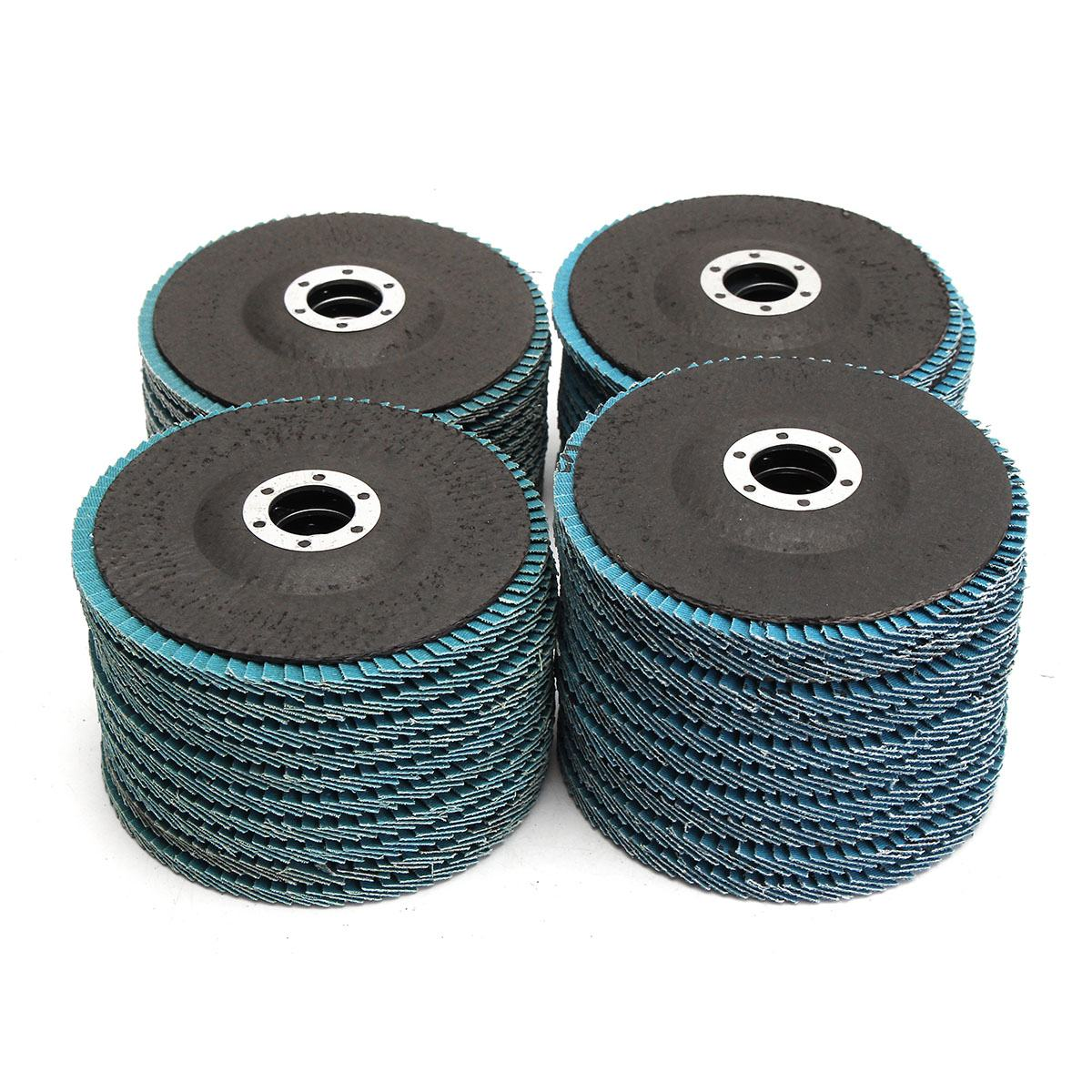 DRILLPRO 10pcs 13000rpm Angle Grinder Flap Disc 5 Inch 125mm Sanding Discs Grinding Wheel Blades 40/60/80/120 Grit Abrasive Tool