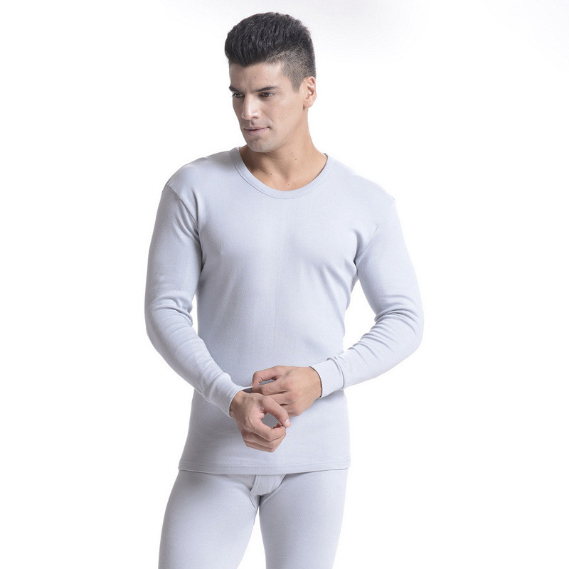 5 Different Colors Men Set Winter Warm Comfortable Lightweight Pajamas Long Johns Top&Bottom Thermal Underwear Set