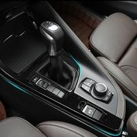 Carbon fiber For BMW X1 F48 2016 18For BMW X2 F47 2018 Center Console Decoration Frame Trim Car Accessories for left hand driver