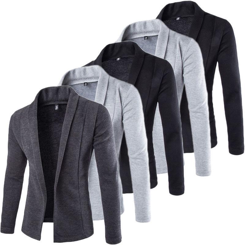 3b8bb7f722 New Fashion Men Stylish Long Sleeve Slim Fit Knit V Neck Cardigan Long  Sweater Coat Jacket Casual Mens Slim Jackets Coats -in Jackets from Men's  Clothing on ...