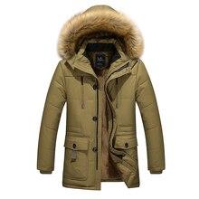 2016 herbst & winter warm samt material lange baumwolle jacke herrenbekleidung Dad Jacken verdickung männlichen wadded