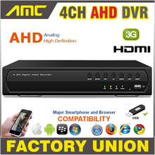 Big discount 4CH AHD CCTV DVR Recorder 720P Real Time Digital Video Recorder H.264 Hybrid NVR 4 CH Channel HDMI Output for AHD Cameras