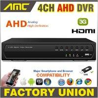 2015 AHD 4CH CCTV DVR Recorder 720P Real Time Digital Video Recorder H 264 Hybrid NVR
