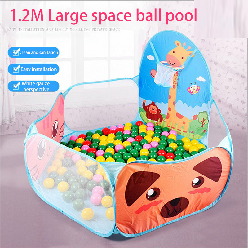 Portable Baby Playpen Children Outdoor Indoor Ball Pool Play Tent Kids Safe Foldable Playpens Game Pool /Sea Ball 7cm Diameter