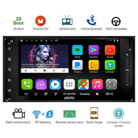 ATOTO A6 Double Din Android Car GPS Stereo/for Toyota & Subaru/ Dual Bluetooth/A6YTY721P 2G+32G/Quick Charge/Indash Radio/WiFi