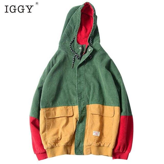 IGGY 2018 Suprem Hoodies Men Sudaderas Hombre Hip Hop Mens Brand Leisure Zipper Jacket Hoodie Sweatshirt Slim Fit Men Hoody