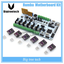 BIQU Rumba For 3D Printer Start Kits Mother Board Rumba Board With 6pcs DRV8825 Stepper Driver &6pcs Heatsink with free shipping