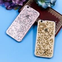 Luxury Phone case For iPhone SE 5 5S 6 6S 7 6s Plus 7plus Soft Back case Gold Bling Glitter Paillette Foil Sequin Cover Coque