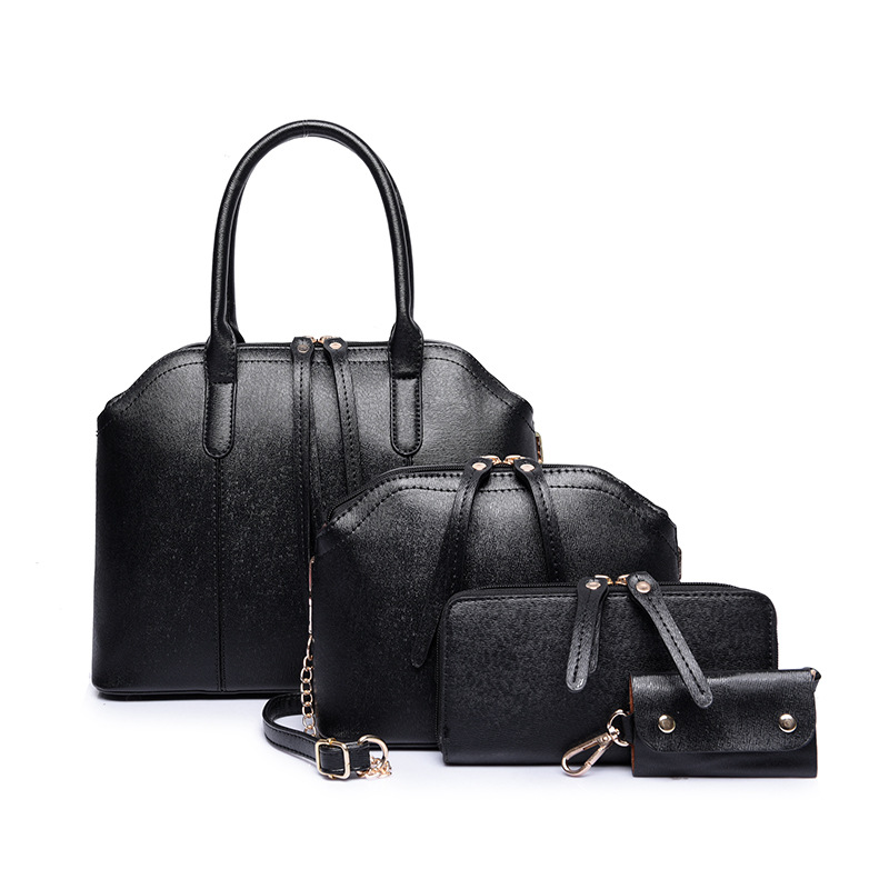 4pc set bolsos marcas famosas 2017 mujeres sac a main femme de marque celebre pu leather tote. Black Bedroom Furniture Sets. Home Design Ideas