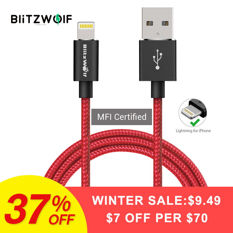 BlitzWolf BW-MF6 MFI Für Blitz Für iPhone USB Kabel 1 m 1,8 m Handy Ladegerät Lade Datenkabel Für iPhone 6 7 Plus