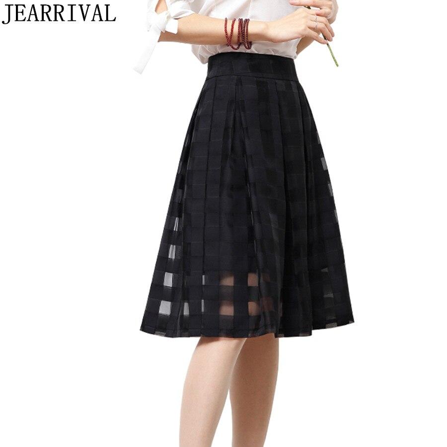 מוצר   High Quality Summer Skirts 2017 New Fashion Women High Waist A Line  Bl