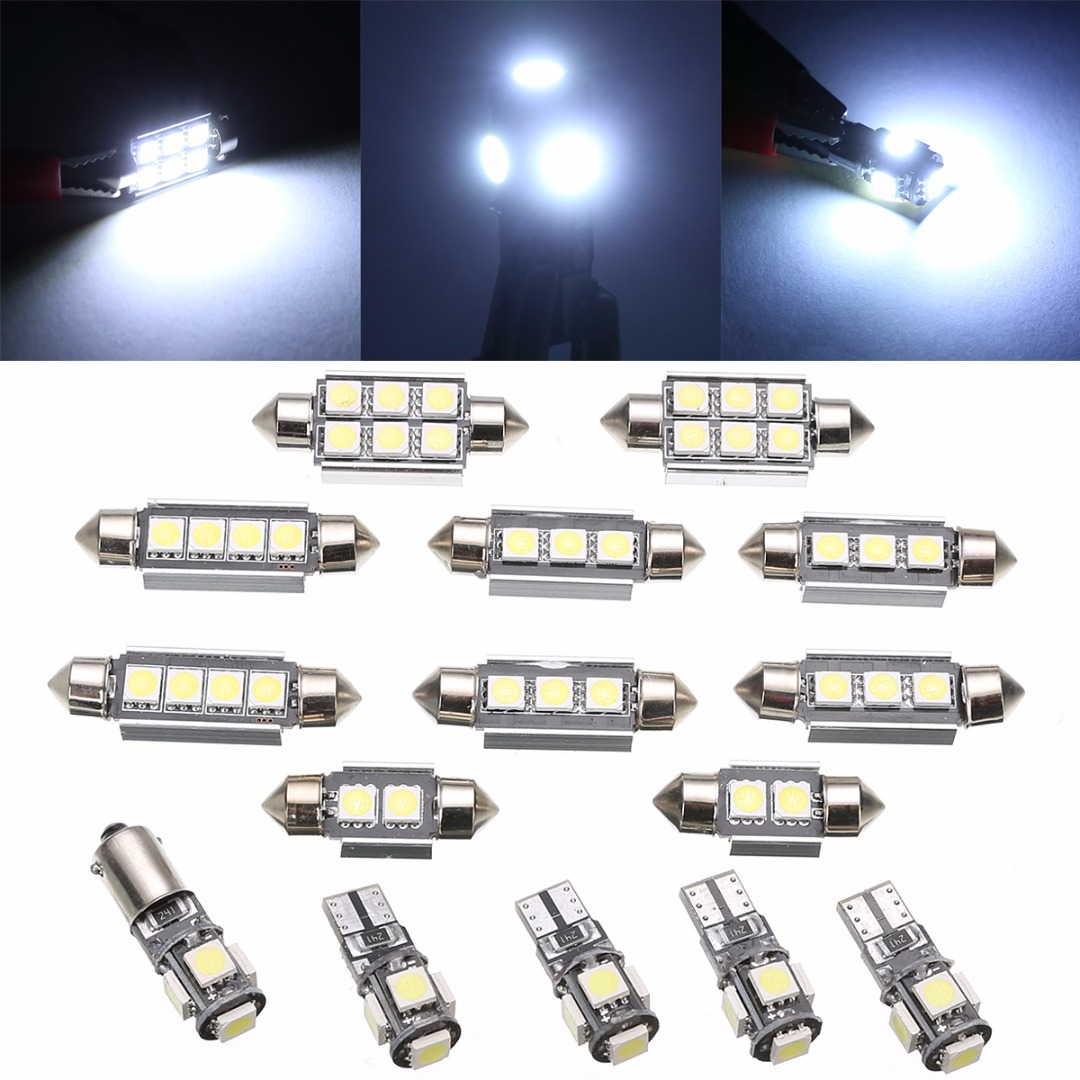 15pcs Car Interior LED Light Bulb Kit Super Bright White Dome Map Lamp For Mercedes Benz C Class W 203 2000-2007 27pcs led interior dome lamp full kit parking city bulb for mercedes benz cls w219 c219 cls280 cls300 cls350 cls550 cls55amg