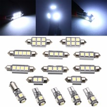 15pcs Car Interior LED Light Bulb Kit Super Bright White Dome Map Lamp For Mercedes Benz C Class W 203 2000-2007