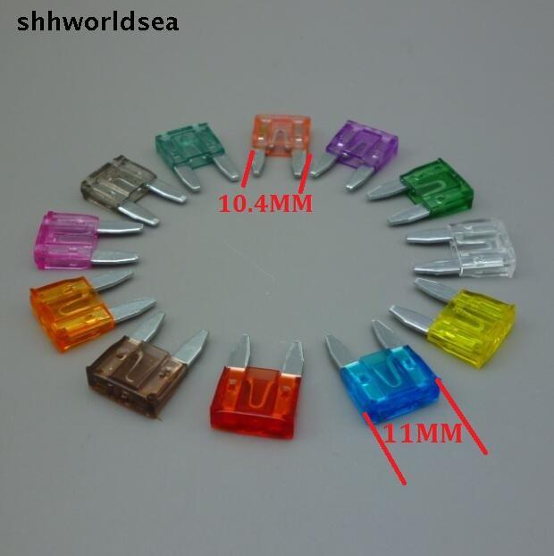 Shhworldsea 180 шт./лот смешанный заказ 5A 7.5a 10A 15A 20A 25a 30A 35a 40A автоматический предохранитель лезвия