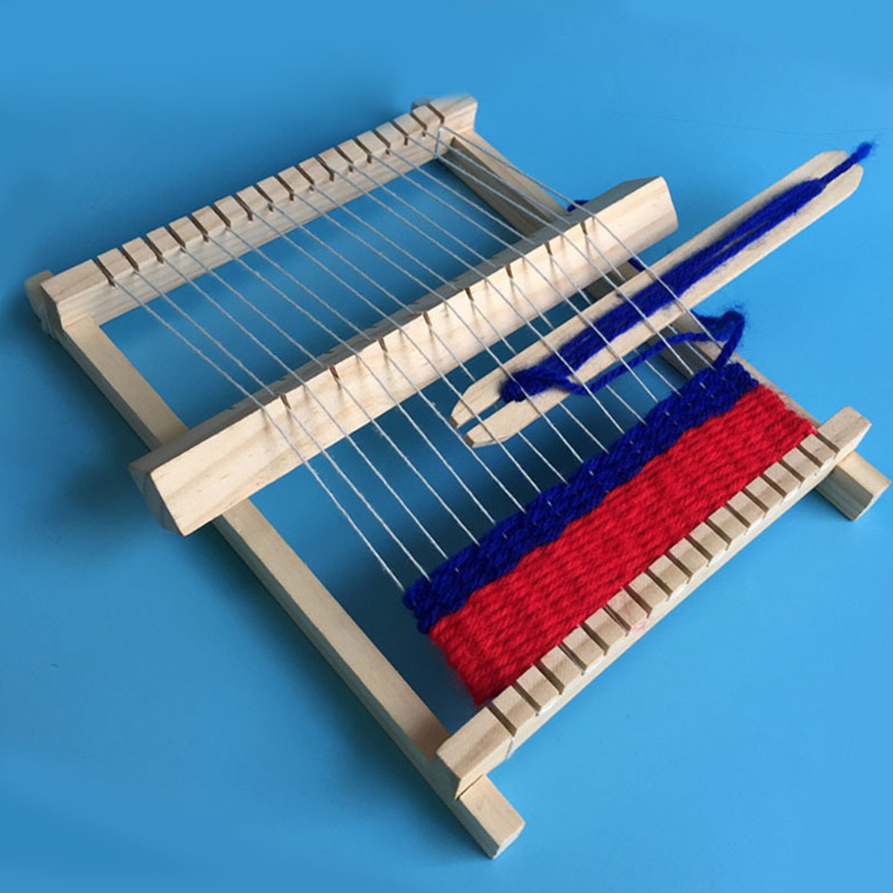 Hand Knitting Toy DIY Weaving Machine Kids Children Cultivate Patience With Accessories Traditional Loom Hand Eye Mini Wooden