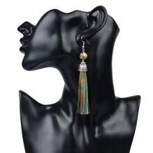 Howlite Long Tassel Earrings
