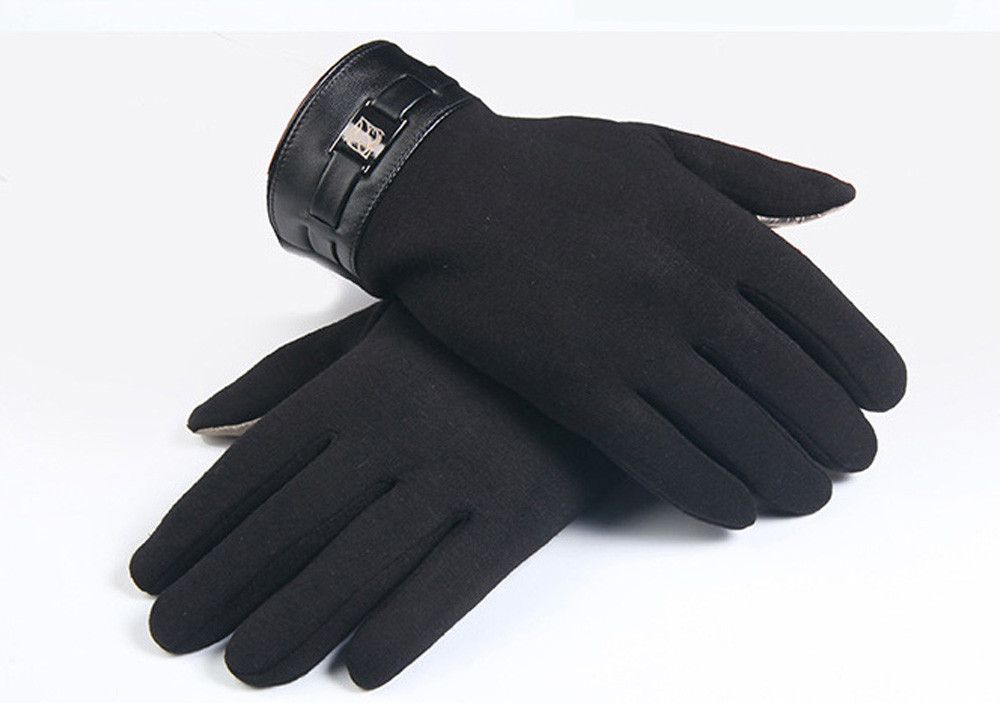 2019 Winter And Autumn Touch Screen Gloves Men Warm Windproof Glove For Men Fashion Classic Black Mitts Men Luvas De Inverno