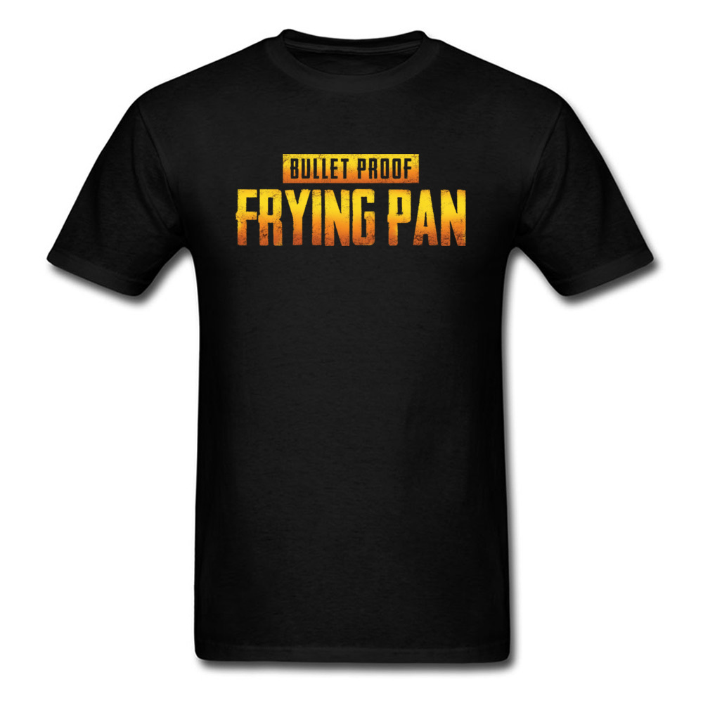 Best Weapon T-shirt Men Tops Funny Tshirt Bullet Proof Frying Pan T Shirt Cotton Black Clothing Witty Saying