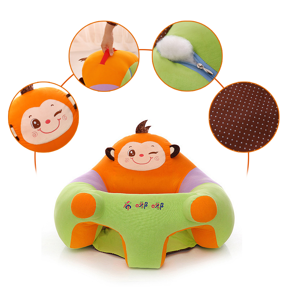Children Sofas Creative 0-2y Kid Baby Support Seat Sofa Sitting Chair Cushion Infant Soft Plush Lounger Learning To Sit Posture Pillow Travel Car Seat Furniture