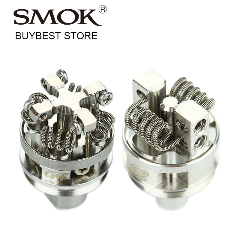 Original Smok TF RTA G4 / G2 Deck Work For SMOK TF-RTA Rebuildable Tank Atomizer Quad-Coil G4 Deck Vs Dual-post Velocity G2 Deck