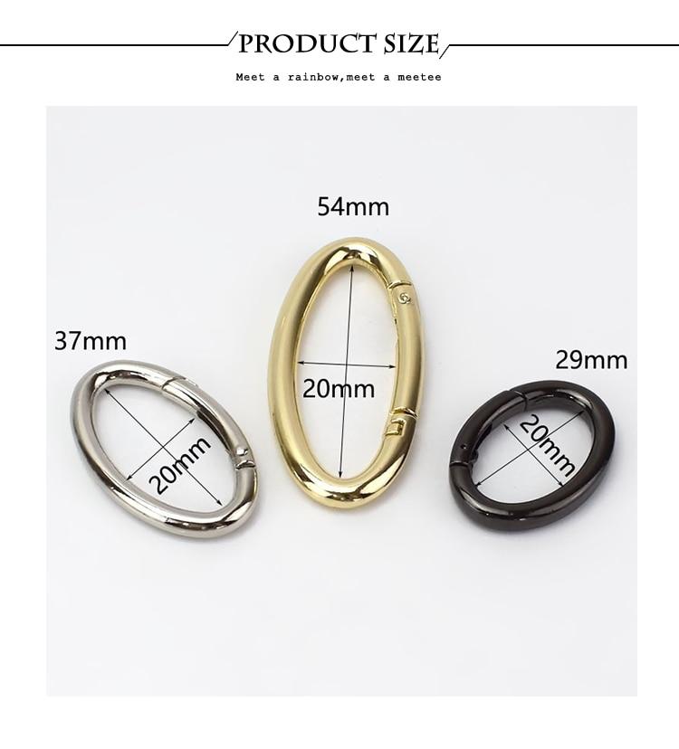 1 Stainless Steel kettenverschluß Jewellery Clasp Snap Ring 20mm L//P