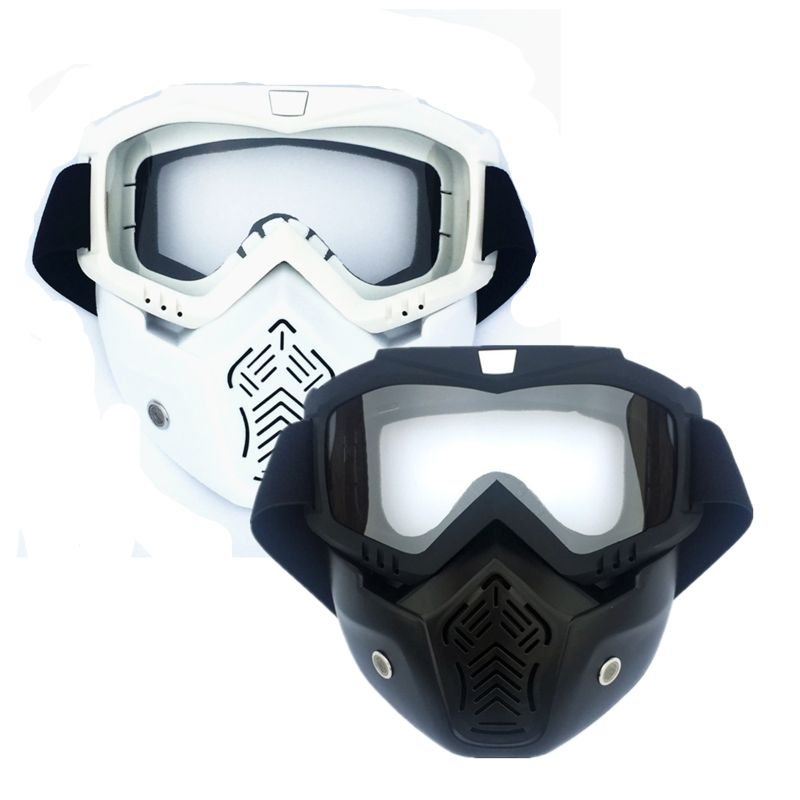 EXSPORT 2 Pack Detachable Face Masks, Tactical Mask With Protective Goggles Compatible For Nerf Rival , Apollo, Zeus, Khaos, Atl