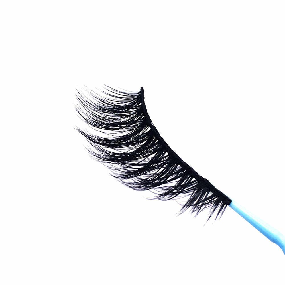 1 Pasang Mewah Bulu Mata 3D Mink Bulu Mata Mink Buatan Tangan Dapat Digunakan Kembali Bulu Mata Alami Populer Palsu Bulu Mata Makeup