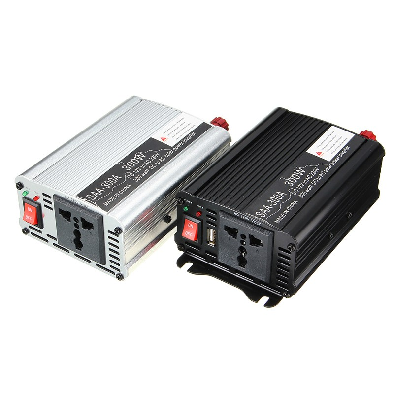 New Arrival 2018 Solar Power Inverter 300W 12V DC To 220V AC Modified Sine Wave Converter Best Peomotion solar power on grid tie mini 300w inverter with mppt funciton dc 10 8 30v input to ac output no extra shipping fee
