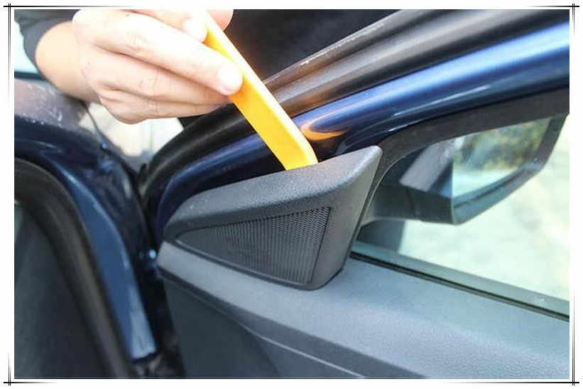 4pcs Plastic Car Door Radio Trim Mold Removal Double Ended Pry Open Tools Kit