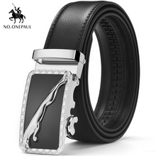 NO.ONEPAUL China famous brand mens belt leather material business men preferred high quality automatic buckle student