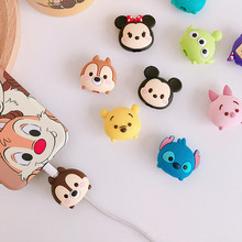 2019 New Cartoon Cute USB Cable Protector Cable Organizer Data Line Management Charging Protection For iPhone Samsung