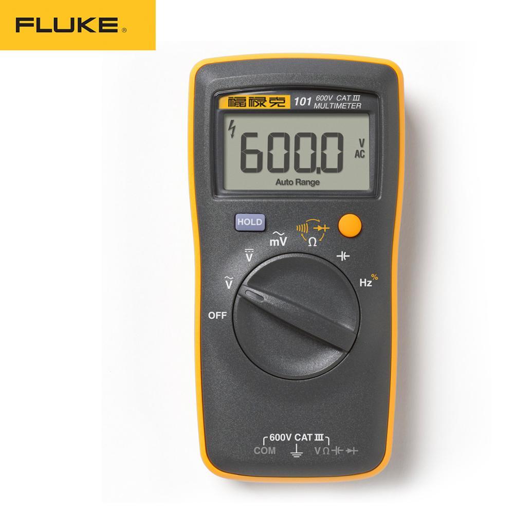 Цифровой мини-мультиметр Fluke 101 с автоматическим выбором диапазона для тестера переменного/постоянного напряжения сопротивления емкости ч...