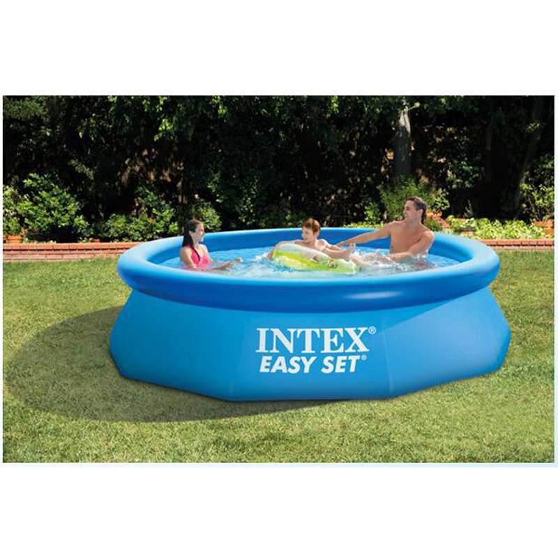 240cm 76cm intex blue agp above ground swimming pool family pool inflatable pool for adults kids for Above ground inflatable swimming pools