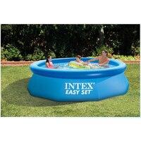 244 см 76 INTEX синий AGP над землей Плавательный Бассейн семейный бассейн надувной бассейн для взрослых детей Аква Лето воды B33006
