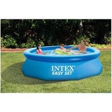 244 см 76 см INTEX голубой AGP над землей бассейн семейный бассейн надувной бассейн для взрослых детей aqua летние водонепроницаемые B33006