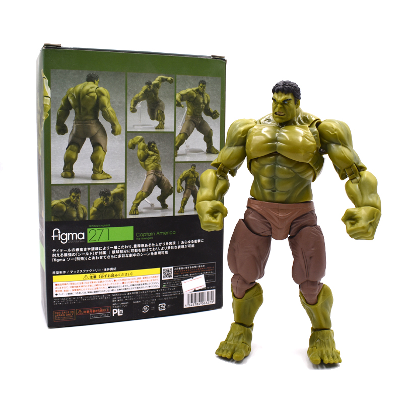 Hulk Figma 271# 1/7 Scale Painted PVC Action Figure Collectible Model Toy 17cm FREE SHIPPING neca epic marvel deadpool ultimate collectible 1 4 scale action figure model toy 16 45cm ems free shipping