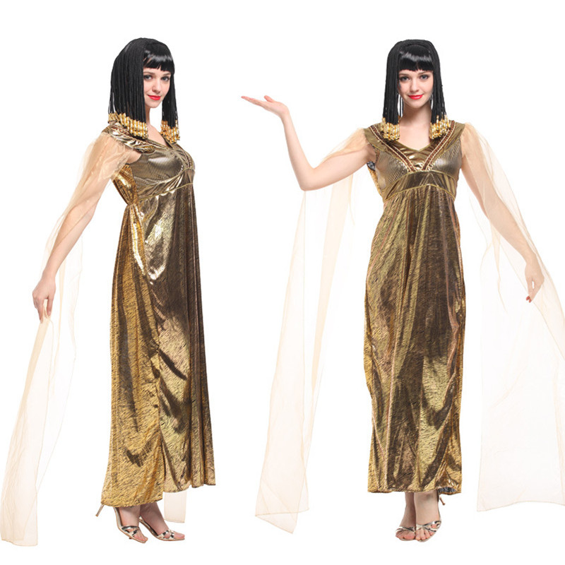 New Sexy Cleopatra Queen of Egypt Cosplay Woman Halloween Greek goddess Costume Carnival Masquerade Party Festival parade dress