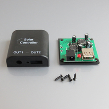 1pc x 5v 2A +9V DC Solar Panel Power Bank USB Charge Voltage Controller Regulator