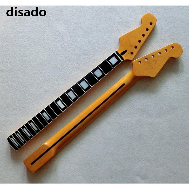 disado 22 Frets reverse headstock Maple Electric Guitar Neck Rosewood Fretboard Glossy Paint Guitar Accessories customzied