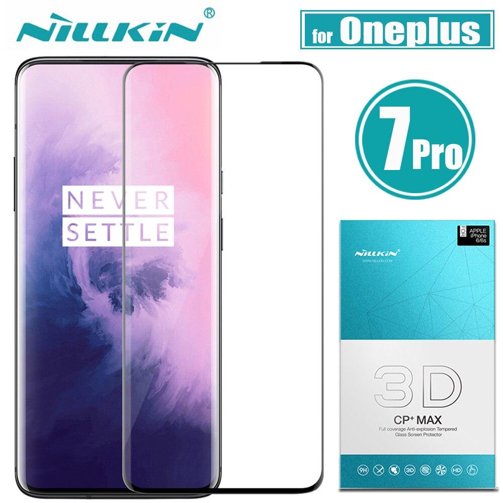 Nilkin Oneplus 7 Pro Gehärtetem Glas Screen Protector Nillkin 3D CP + MAX Volle Abdeckung Glas Schutz Film für Eine plus 7 Pro