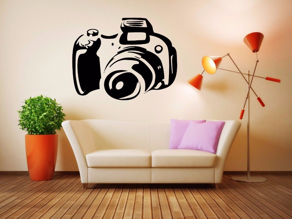 camera vinyl wall decal cinema camera wall sticker movie studio room