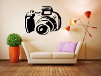Camera Vinyl Wall Decal Cinema Camera Wall Sticker Movie Studio Room Removeable Wall Sticker Bedroom Decorative Decoration
