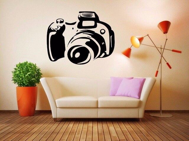 Camera vinyl muurtattoo cinema camera muursticker movie studio kamer