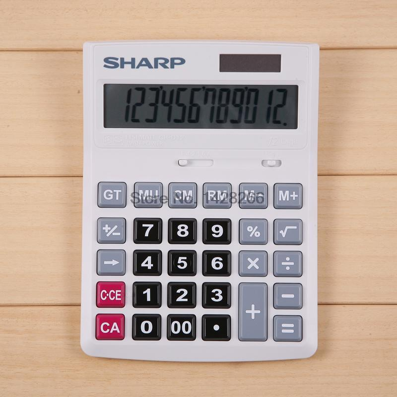 Genuine original shipping Sharp SHARP font b calculator b font CH D12 office business machines Medium